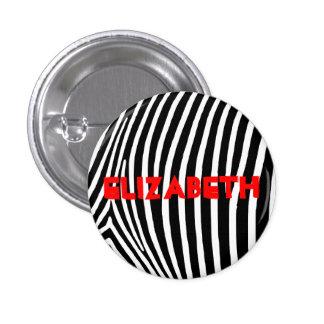 Personalized Zebra Stripes Button