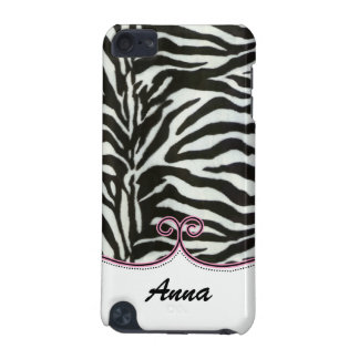 personalized zebra stripes pink trendy iPod touch 5G cover