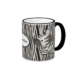 Personalized Zebras & Animal Print Mug