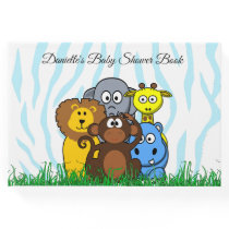 Personalized Zoo Animals Baby Shower Book