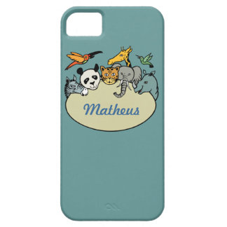 personalized zoo family animals iPhone SE/5/5s case