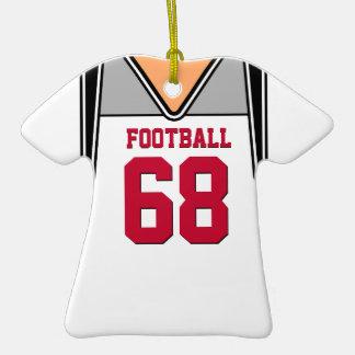 PersonalizedWhite/jersey rojo 68 V1 del fútbol Ornato