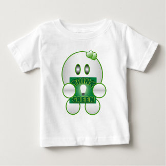 PersonalizeTHINK GREEN Cute Character Baby T-Shirt