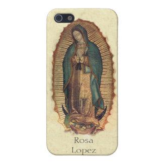 Personalizó a nuestra señora de Guadalupe Iphone 4 iPhone 5 Protector