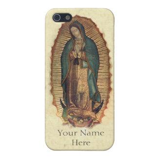 Personalizó a nuestra señora de Guadalupe iPhone 5 Fundas