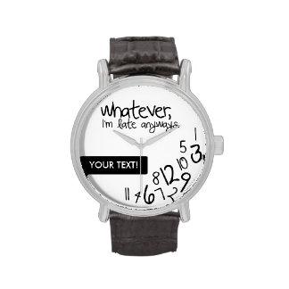 Personalizó lo que yo son atrasados de todos modo relojes de pulsera