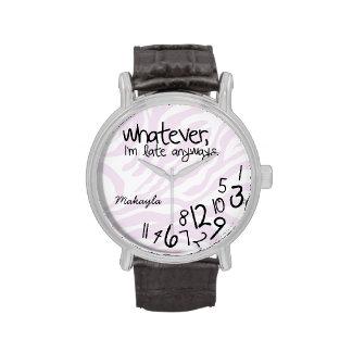 Personalizó lo que, yo son atrasados de todos relojes de pulsera
