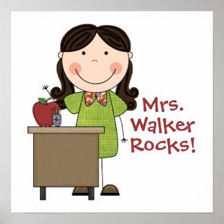Personalizó mi poster de las rocas del profesor