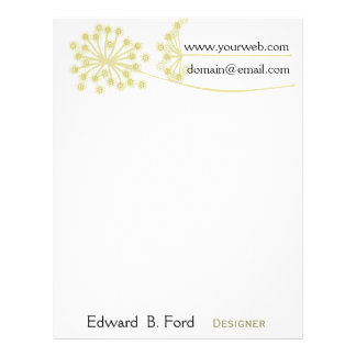 Personally Yours! The Vintage Flower Flowers Letterhead