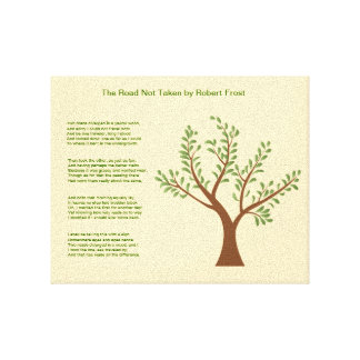 PersonalTrees - árbol del poeta el camino no tomad Impresiones En Lona Estiradas