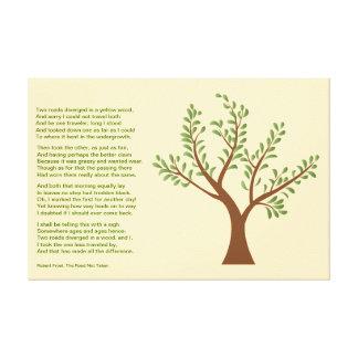 PersonalTrees - árbol del poeta el camino no tomad Impresión En Lienzo Estirada