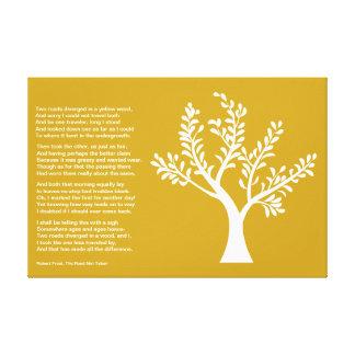 PersonalTrees - árbol del poeta el camino no tomad Lona Estirada Galerías