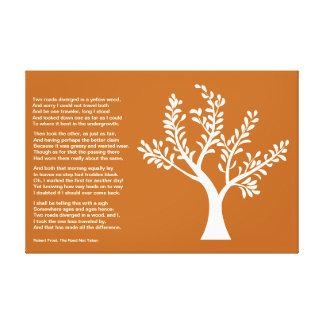 PersonalTrees - arcilla roja - árbol del poeta Lona Estirada Galerias