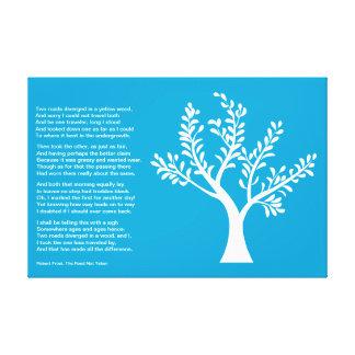 PersonalTrees - azul brillante - árbol del poeta Impresiones En Lona Estiradas