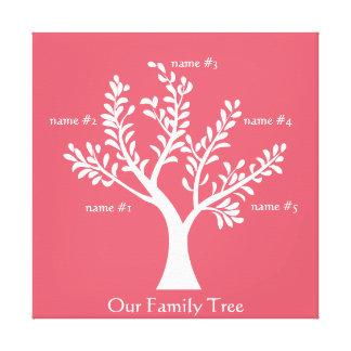 PersonalTrees Crimson  Family Tree Canvas Canvas Prints