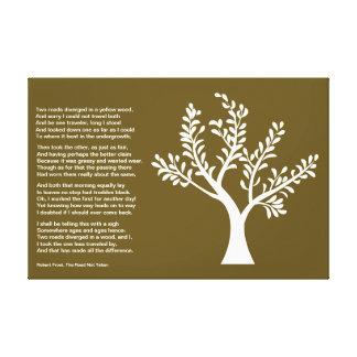 PersonalTrees - de color caqui oscuro - árbol del Impresiones En Lienzo Estiradas