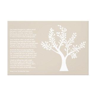PersonalTrees - gris caliente - árbol del poeta Lienzo Envuelto Para Galerias