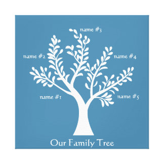 PersonalTrees Hyacinth Family Tree Canvas Gallery Wrapped Canvas