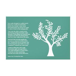 PersonalTrees - turquesa - árbol del poeta Impresión En Lona