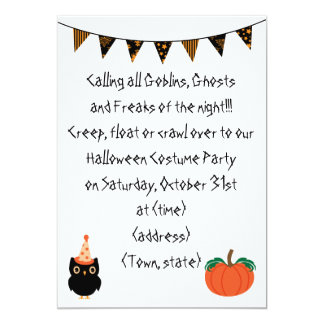 Personalzied Halloween Party Invite