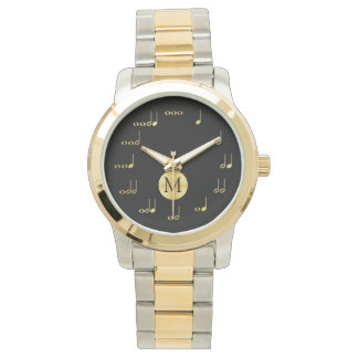 Personalzied Monogram Music Note - Music is Life Wrist Watches