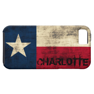 Personalzied Vintage Grunge Flag of Texas iPhone 5 Case