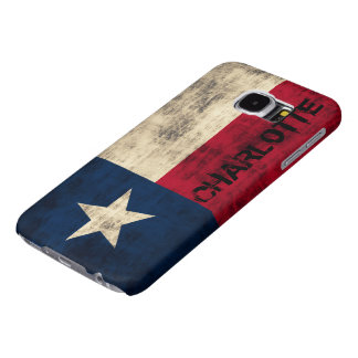 Personalzied Vintage Grunge Flag of Texas Samsung Galaxy S6 Case