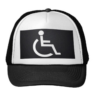 Personas lisiadas gráficas gorras