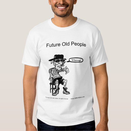 Personas mayores futuras de la camiseta polera