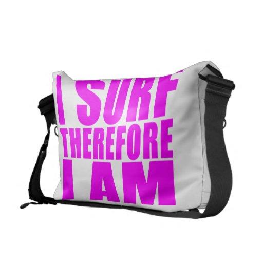 Personas que practica surf del chica: Me practico  Bolsa De Mensajería