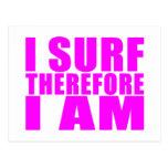 Personas que practica surf del chica: Me practico  Postal