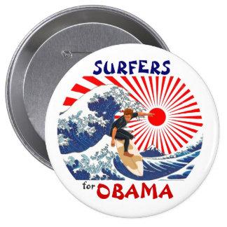 Personas que practica surf para Obama Pins