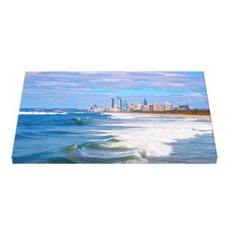 Personas que practica surf paraíso, Gold Coast, Lona Estirada Galerías