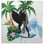 Personas que practica surf servilleta