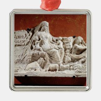 Personificación de la madre de tierra, r alegórico ornaments para arbol de navidad