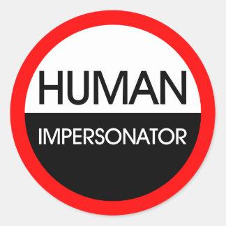Personificador humano etiquetas redondas