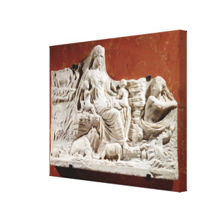 Personification of the earth mother, allegorical r canvas print