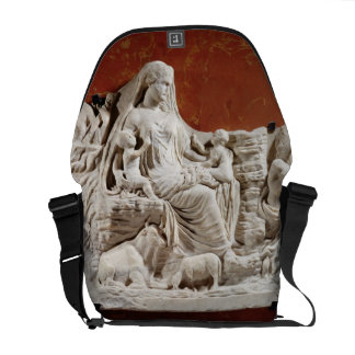 Personification of the earth mother, allegorical r courier bag