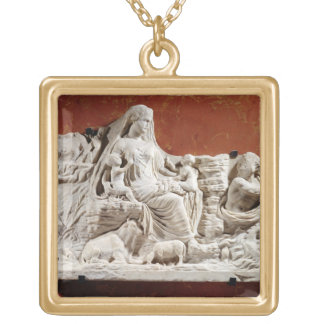 Personification of the earth mother, allegorical r necklace