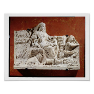 Personification of the earth mother, allegorical r poster