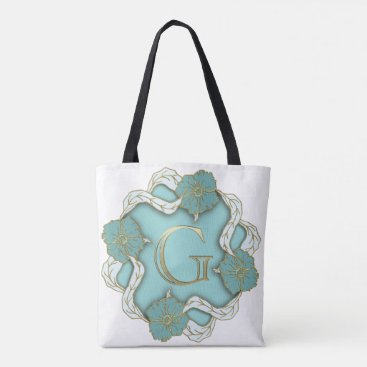 Beach Themed Personized Tote Bags, Montogrammed Tote Bags