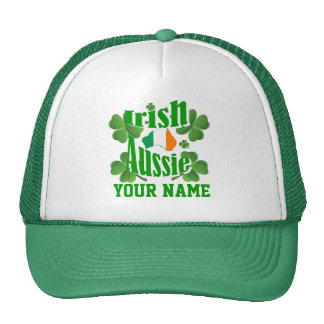 Personlalized  Irish Australian St Patrick's day Mesh Hats