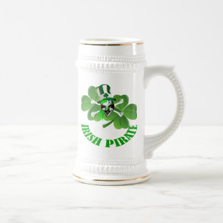 Personlalized  Irish pirate St Patrick's day Beer Stein