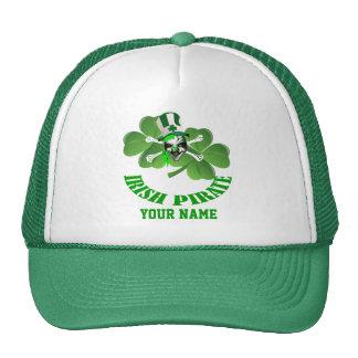 Personlalized  Irish pirate St Patrick's day Mesh Hat