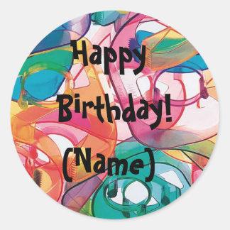 Personlized Birthday Stickers