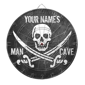 Personlized Pirate Man Cave Dartboard With Darts