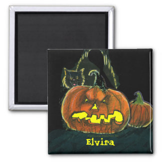 Personlized, Scary Pumpkin Magnet