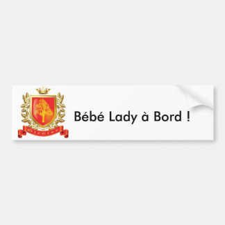 Personnalisable with the first name of the child car bumper sticker