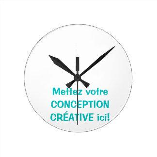 Personnalisée de Horloge Reloj Redondo Mediano