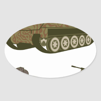 Personnel carrier Camo Oval Sticker